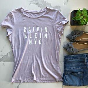 Calvin Klein Jeans Purple Graphic Tee